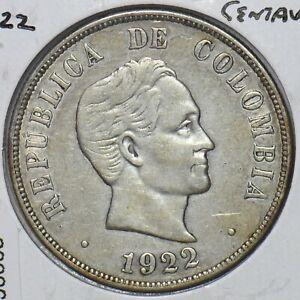 Colombia 1922 50 Centavos Condor animal 296668 combine shipping