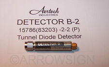 Aertech Tunnel Diode Detector B-2 • 15786 83203 -2-2 TD Back Detector RF radar