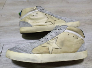 GGDB Golden Goose Mid Star Sneakers In Smooth Leather And Sued Size 44 Italy