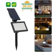 50 LED Photosensible Pelouse Jardin Sol Lampe Underground Spot Projecteurs