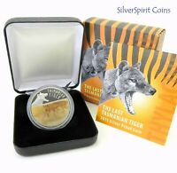 2011 TASMANIA TIGER LENTICULAR  Silver Proof Coin