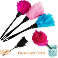 Anti-static Portable Turkey Feather Duster Home Cleaning Cleaner Plastic Handle