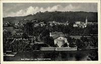 Bad Kösen alte DDR Ansichtskarte 1958 Gesamtansicht von der Saline aus gesehen