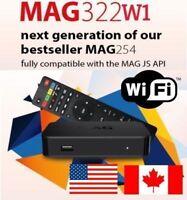 New Original Infomir MAG322W1 Mag 322W1 IPTV Set top box Builtin WIFI New mag254