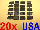 NEW 20x Anti Dust Cover Black Flex Soft Plastic Part For USB Port Protection