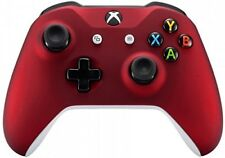 """Red Xbox One S Custom Wireless Controller for Xbox One """"Soft Touch"""" Feel"""