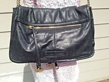 BCBG MAXAZRIA  Black Leather Bag - Adjust. Strap - Cross body or Shoulder Purse