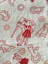 Vintage Novelty Print Feed Sack Flour Sack Fabric Full Sack Dish Washing Design