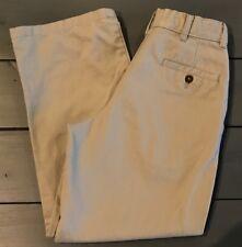 GEORGE Khaki Pants Boys Youth Pleats Pockets Adjustable Waist Size 12 GUC
