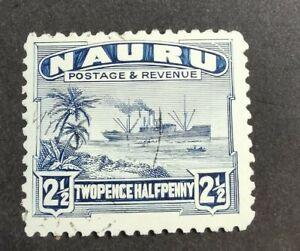 Nauru 1924-48 2 1/2d blue used B1