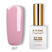 RS Nail UV Gel Polish LED Sequined Varnish Soak Off Pink Grey Colour 15ml New