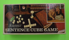 Scrabble Sentence Cube Game Complete 1971 Complete with all Pieces, Miss. Insert