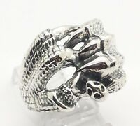 NEW Mens Dragon Claw Biker Design Sterling Silver 925 Ring 19g Sz.10 HE318