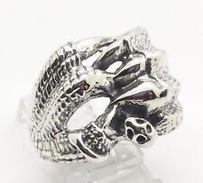 Cabeza De Dragón juego de tronos anillo 925 plata metal biker gótico feeanddave