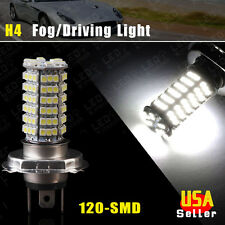 1xH4 120SMD High Power Xenon White Fog Driving Head LED Light Lamp Bulb 9003 HB2
