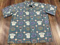 Vintage Arizona D'Backs Men's Button-Down Shirt - Reyn Spooner - Large