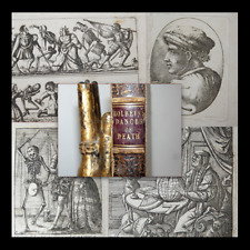 Hans Holbein / Deuchar: The Dance of Death - London 1803 Danza Morte Scheletri