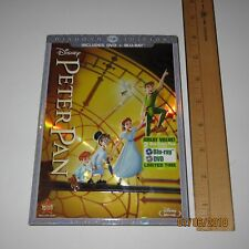 Peter Pan Diamond Edition DVD + Blu-Ray 2 Disc Set Complete Slipcover