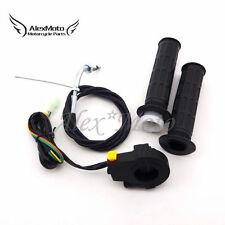 Motorized Bicycle Push Bike Hand Grips Throttle Cable Kill Switch 50cc 60cc 80cc
