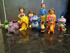 DORA THE EXPLORER 12 PCS TOY FIGURE SET/CAKE TOPPER NEW UK SELLER