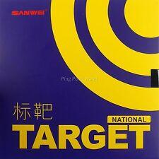 Genuine Sanwei TARGET  National Blue Sponge Pips In Table Tennis Rubber black