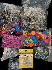 Lot Of Mixed Beads Acrylic, Glass, Metal, Clay, Pearls And Findings B5