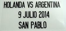 "Match Date of Holanda Vs Argentina ""World Cup 2014"" at Argentina Home"