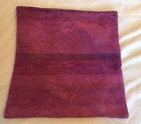 "19"" X 19"" Turkish Kilim Rug Pillow Case Cushion Cover Wool Hand Woven Home Decor"