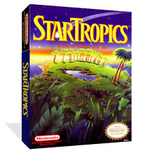 Star Tropics NES Replacement Spare Game Case Box + Cover Art Work (No Game)