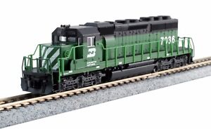 Kato N Scale 176-4961 EMD SD40-2 BN  Road #7036 DCC Ready New!