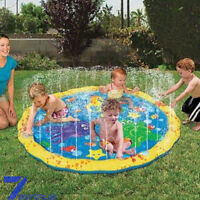 Outdoor Water Play Mat Sprinkler Kids Toy Activity Toddlers Baby Pool Fun New aF