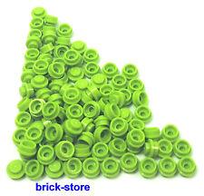 LEGO®  hellgrüne /  1x1 x0.33 runde Platten / Rundsteine / 100 Stück