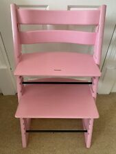 Stokke Tripp Trapp Highchair wooden In Pink Colour