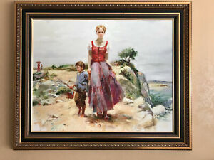 """PINO DAENI Limited Edition Giclee on Canvas Cliffside Retreat 50"""" x 42"""""""