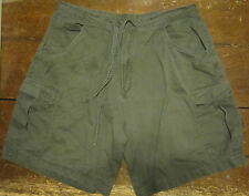 Men's Size 40 Mathewson and Rowe Olive Green 6 Pocket Shorts Cotton