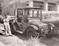 1921 model Detroit Electric car in driveway Chicago Oak Park IL 1955 photo CHOIC