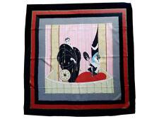 "Erte Scarf, ""A Night at the Opera,"" Vintage, 100% Silk, 33.50"" x 33.50"""