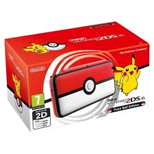 Nintendo 2ds XL Handheld Console Pokemon Pokeball Edition UK Plug