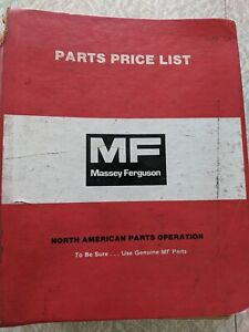 Massey Ferguson Parts Price List Binder Universal Pickup Reel MF North American