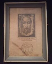 "Authentic Vatican Document 1800's VEIL OF VERONICA  5""W x 7""L"