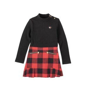 Tommy Hilfiger Toddler Little Girls Plaid Buffalo Check Dress Size 4 NWT