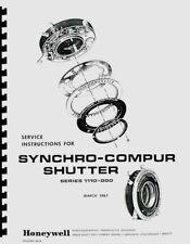 Synchro-Compur Shutters Service & Repair Manual for Rolleiflex Cameras Reprint