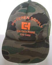 Wittichen Supply CertainTeed Construction Vintage Camo Trucker Hat Snapback Cap
