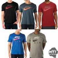 Nike Mens Original Air T Shirt Speckle Futura Sports Swoosh Tee Casual Wear Top