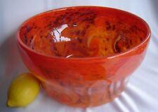 Vintage Vasart Strathearn Art Glass Orange Bowl Hand Made in Crieff Scotland