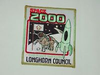 Never Sewn BSA Boy Scouts Longhorn Council Space 2000 Cub Scout Day Camp Patch