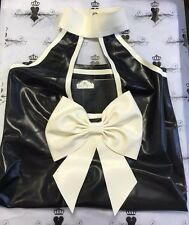 R1539 Goma Látex Vestido De Moda * se muestra * Tamaño 16 Reino Unido Burlesque Pin Up segundos