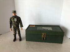 "Vintage 1960's Hasbro GI Joe 12"" Soldier and Footlocker"