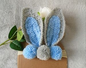 baby bunny headband, ear headband, newborn bunny ear, kids Easter bunny