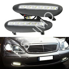 Mercedes Benz W220 S-Class 98-01 White DRL LED Daytime Running Fog Driving Light